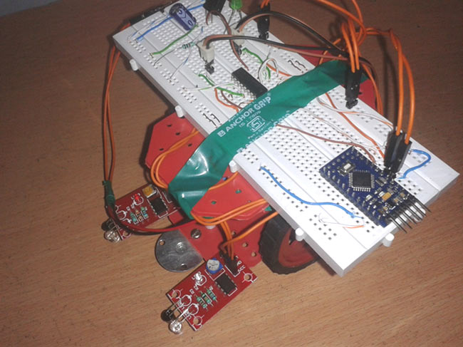 Line Follower on Arduino Robo India